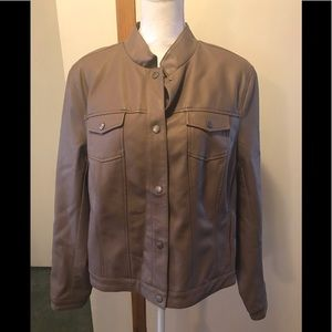 Faux leather jacket  Xl Taupe